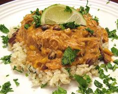 Slow Cooker Fiesta Chicken Soup + several other crock pot recipes to ...