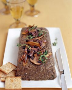 French green lentils, cremini mushrooms, shallots, and sherry make a rich and savory vegetarian spread. Toasted hazelnuts and chopped hard-cooked egg whites give the pate a varied texture.