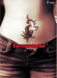 frog tattoos, tattoo designs and butterfly tattoos. #tattoo #tattoos #ink