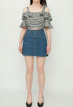 Online Fashion Boutique, Fashion Online, Denim Skirt, Skirts, Women, Skirt, Jean Skirt, Gowns