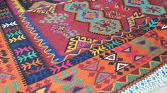 Old Turkish Authentic Kilim Rug Handwoven 100% Wool by KILIMSLAND