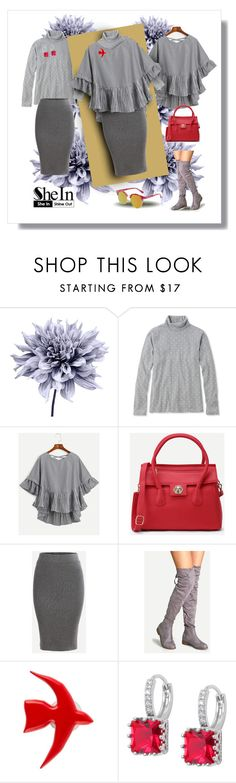 """Shein.com Contest Striped Top"" by fernshadowstudio-com ❤ liked on Polyvore featuring Art Addiction, L.L.Bean and Over All MasterCloth (OAMC)"