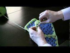 How to Attach Granny Squares--Method 1 Part 2 of 2 By: Michael Sellick, The Crochet Crowd In How to Attach Granny Squares--Method 1 Part 2 of 2, Michael Sellick discusses how to seam together granny squares. This time you'll learn how to combine 4! Soon you can make your very own granny square afghan.