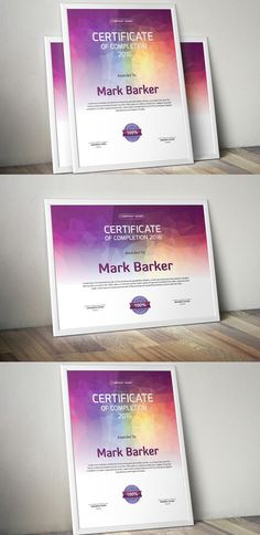 Certificate by curvedesign on Envato Elements Certificate Layout, Certificate Design Template, Stationery Templates, Print Templates, Colegio Ideas, Award Certificates, Cool Business Cards, Graphic Design Posters, Book Design