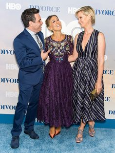 Oct. 5, 2016 - There Was a Mini 'Sex and the City' reunion last night at the New York City premiere of Divorce, SJP's new series on HBO. Sarah Jessica Parker posed with Cynthia Nixon on the red carpet for a fun Carrie-Miranda moment. They were soon joined by Mario Cantone, better known in the show as Anthony Marentino, Charlotte's quick-witted wedding planner. - HarpersBAZAAR.com