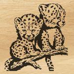 Scroll saw pattern  025 cheetahs
