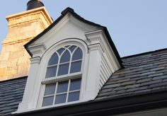 Home exterior colonial dormer windows 22 ideas for 2019 Colonial Exterior, Modern Exterior, Exterior Design, Vintage Architecture, Architecture Portfolio, Architecture Details, Dormer Windows, Modern Craftsman, Window Design