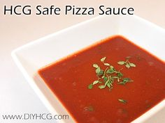 Pizza sauce recipe for phase 2 of the HCG Diet... amazing!
