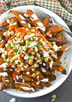 unapologetically healthy  loaded taco fries (BAKED)