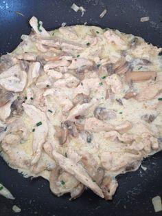 Chicken breasts with mushroom sauce