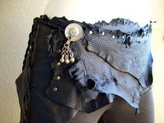 Dark Pixie Wrap Belt tribal fusion belly by ArchaicLeatherworks