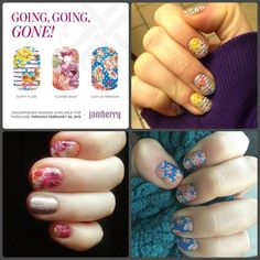 These fabulously fun and subtle florals are going away forever on March 1! Perfect for your spring look! Don't miss out! http://helpinghands.jamberrynails.net
