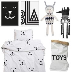 Who else loves a bit of monochrome? Here are are the perfect addition to a stylish  black & white kids room
