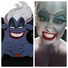 my first time trying this makeup. :) happy halloween! ursula- little mermaid
