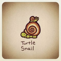 Turtle Snail #turtleadayjune - @turtlewayne- #webstagram