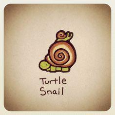 Turtle Snail #turtleadayjune - @Turtle Wayne- #webstagram
