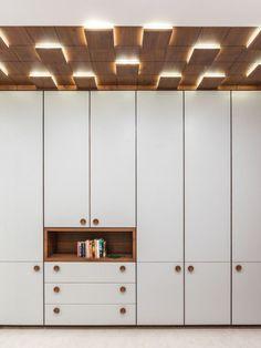 Swaram – A Contemporary House - ceiling design Wardrobe Door Designs, Wardrobe Design Bedroom, Bedroom Bed Design, Bedroom Furniture Design, Wardrobe Doors, Closet Designs, Master Bedroom, Fall Ceiling Designs Bedroom, Ceiling Design Living Room