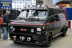 The A-Team van shines in New York – Click above for high-res image gallery Are these the ultimate performance cars? Chevrolet Van, Chevy Van, A Team Van, Kangoo Camper, Gmc Vans, Movies And Series, Cool Vans, Camping Car, The A Team