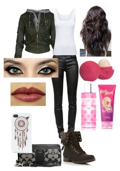 Date #1 by coopercorri on Polyvore featuring Boody, T By Alexander Wang, Head Over Heels by Dune, Coach, With Love From CA, Victoria's Secret PINK, Eos and Nicki Minaj