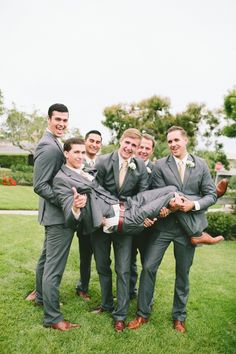 dark grey groom and groomsmen looks captured by Aga Jones Photography http://www.weddingchicks.com/2014/04/10/beach-theme-diy-wedding-aga-jones-photography/