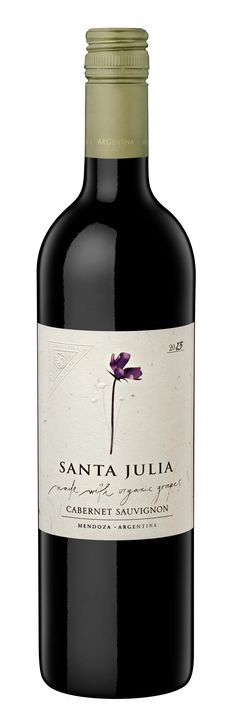 Santa Julia Organica Cabernet Sauvignon. Intense red ruby color. Nice fruit aromas of red and black fruits like cassis, black cherries and spices like black pepper, and sweet pepper. Medium bodied, well balanced wine with soft tannins and a long finish. http://www.winesellersltd.com/wine/Mendoza/Santa%20Julia/Organica%20Cabernet%20Sauvignon/2013.html