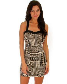 Tribal Sweetheart Dress w/ Cutout Back