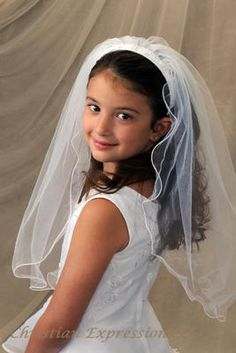First Communion Dresses | 1st Holy Communion Veils. Cassie Headband Veil