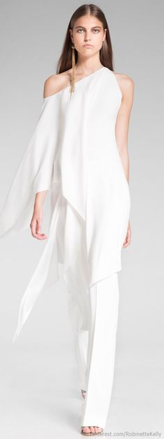 Would totally do this. Dresses are overrated. Donna Karan Resort 2014 / Alternative Wedding Dress / One Shoulder