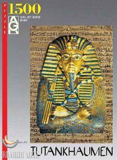 """Editions Ricordi 2901N14456G - De oro """"ARTE EGIPCIO TUTANKHAMON"""" puzzle 1500 piezas del rompecabezas: Amazon.es: Juguetes y juegos"""