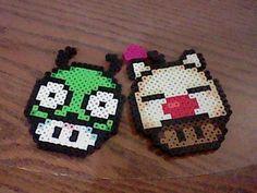 Mario Mushrooms Orignal and Custom Design perler beads by LunaBunneh's Creations