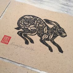 Lacey Law ~ Boxer's Baby ~ Woodcut Print