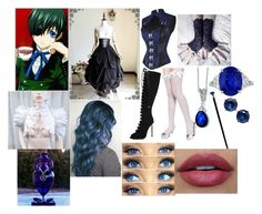 """""""Staying with Ciel Phantomhive"""" by morfeoandpan ❤ liked on Polyvore featuring Ciel, River Island, Kevin Jewelers and Lauren Ralph Lauren"""