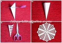 Como fazer teia de aranha de papel; Serve como decoração na mesa | Ideias de Halloween | Madame Inspiração