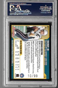 2000 Bowman GOLD Tom Brady New England Patriots #236 PSA 10 GEM MINT ONLY POP 1 | eBay