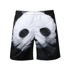 $16.86 Panda Patchwork Casual Shorts - White And Black