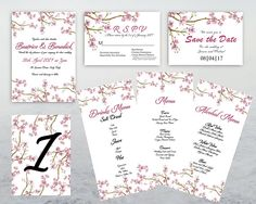 Wedding Stationary Invitations Set PRINTABLE DYI CUSTOM Invitation Set, Wedding Stationary, Save The Date, Etsy Store, Dyi, Printable, Design, Wedding Invitation