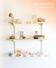 DIY painted shelves