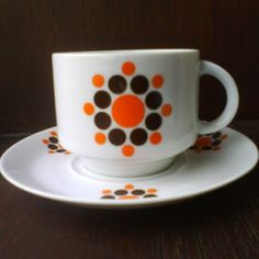 70's style retro Bavaria Winterling cup & saucer
