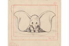 Exposition : Tout l'art de Disney, l'un des premiers crayonnés de Dumbo