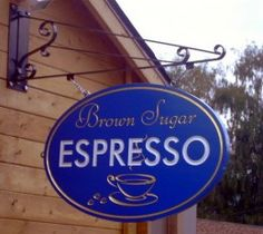 ORDER carved sandblasted wood signs made from Extira, Cedar, Redwood, &High Density Urethane (HDU). Sandblasted Wood, Coffee Shop Signs, Making Signs On Wood, Carved Wood Signs, Signage Design, Sign I, Carving, Neon Signs, Letters