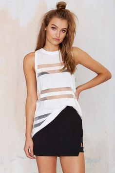 Finders Keepers Sunday Mesh Tank Top - Tops