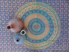 Handmade Blue based elephant camel mandala Indian hand printed wall hanging tapestry double bed throw mandala print SFS055 by colornframe on Etsy