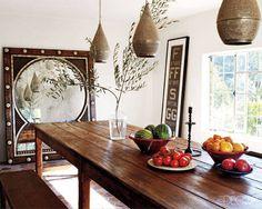 Guatemalan farmhouse table from Dos Gallos