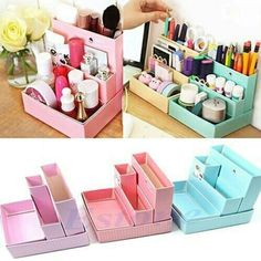 Cool storage bins:)
