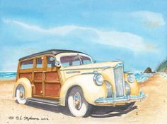 Father's Pride, a 1941 Packard One Twenty.  The Packard Woodies have been some of most highly prized classics in the country.  The One Twenty sits proud and stately on the shore, prepared to chauffer the beach comber's back to their estate.