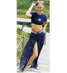 Crochet Pattern Vintage 70s Cover Up Crochet Bikini Crochet
