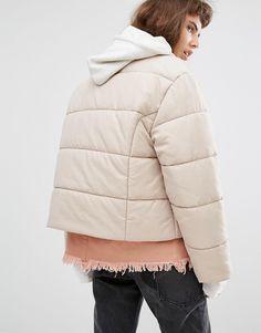 Image 2 ofPuffa Oversized Collarless Padded Jacket