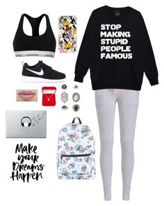 """""""Untitled #2998"""" by if-i-were-famous1 ❤ liked on Polyvore featuring Casetify, Calvin Klein, NIKE, Topshop, Alexa Starr, Disney and Music Notes"""