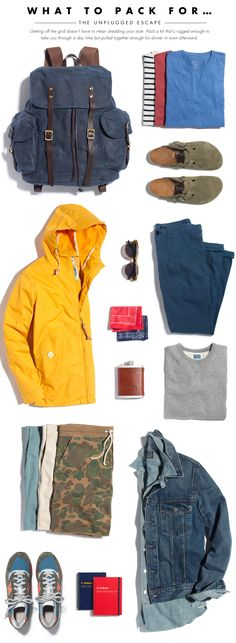 Packing List Unplugged Escape Summer '14