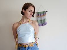Reversible Side Tie Crop Top by Annie Oakes Designs